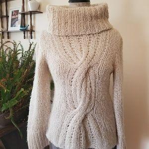 Express winter white knit sweater, xs